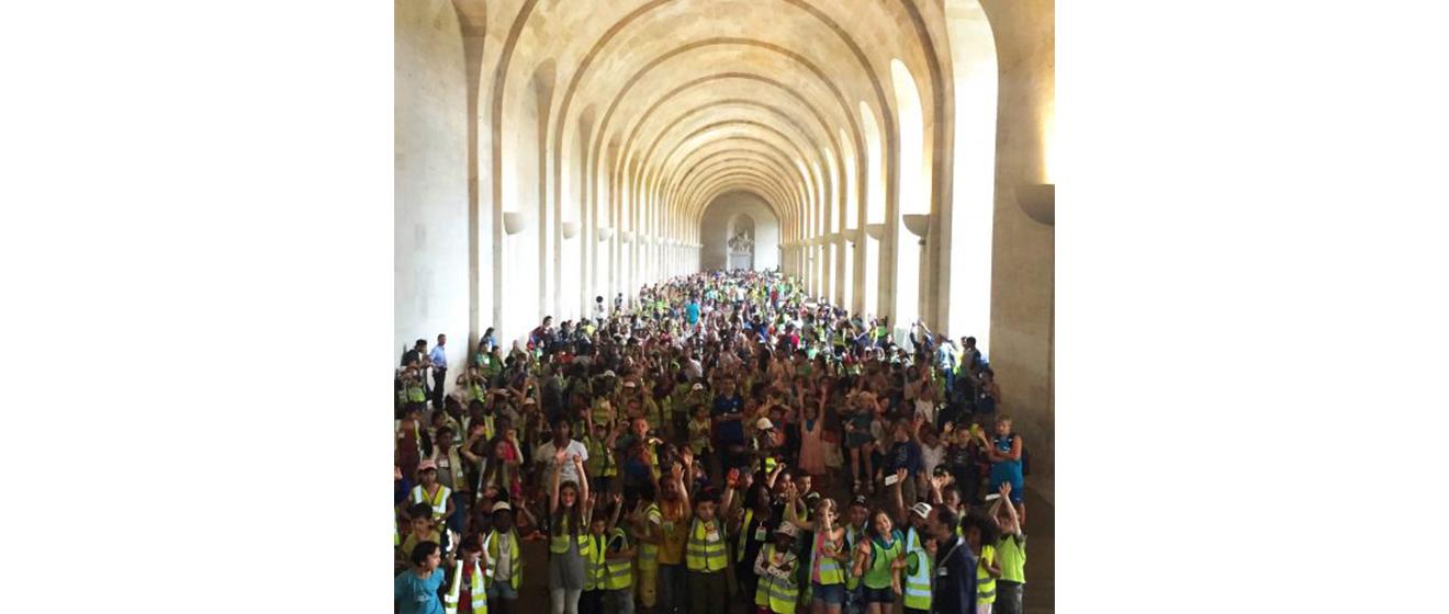6000 enfants bénéficiaires d'une Journée de Vacances à Versailles en 2016