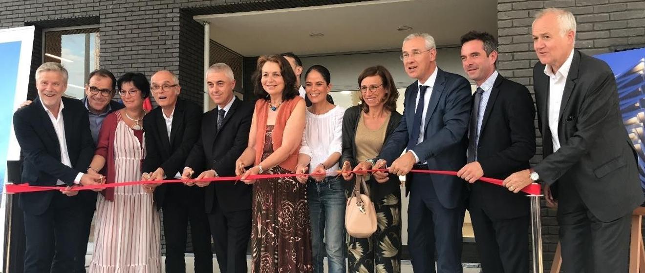 Inauguration de la résidence Trilogie en présence du Maire d'Asnières-sur-Seine
