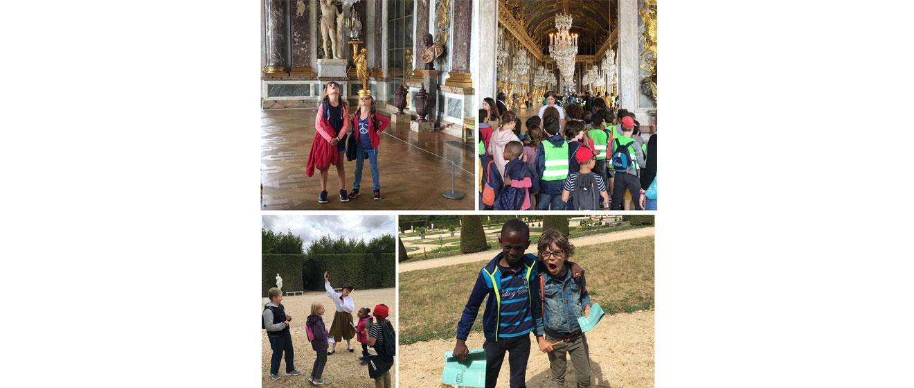 Les enfants pendant la 2ème édition de l'opération « Une journée de vacances à Versailles »
