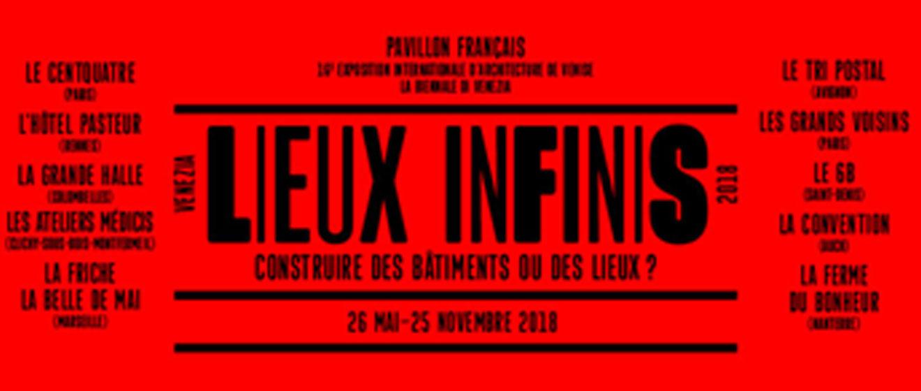 Biennale d'architecture de Venise : Affiche de l'exposition Lieux Infinis
