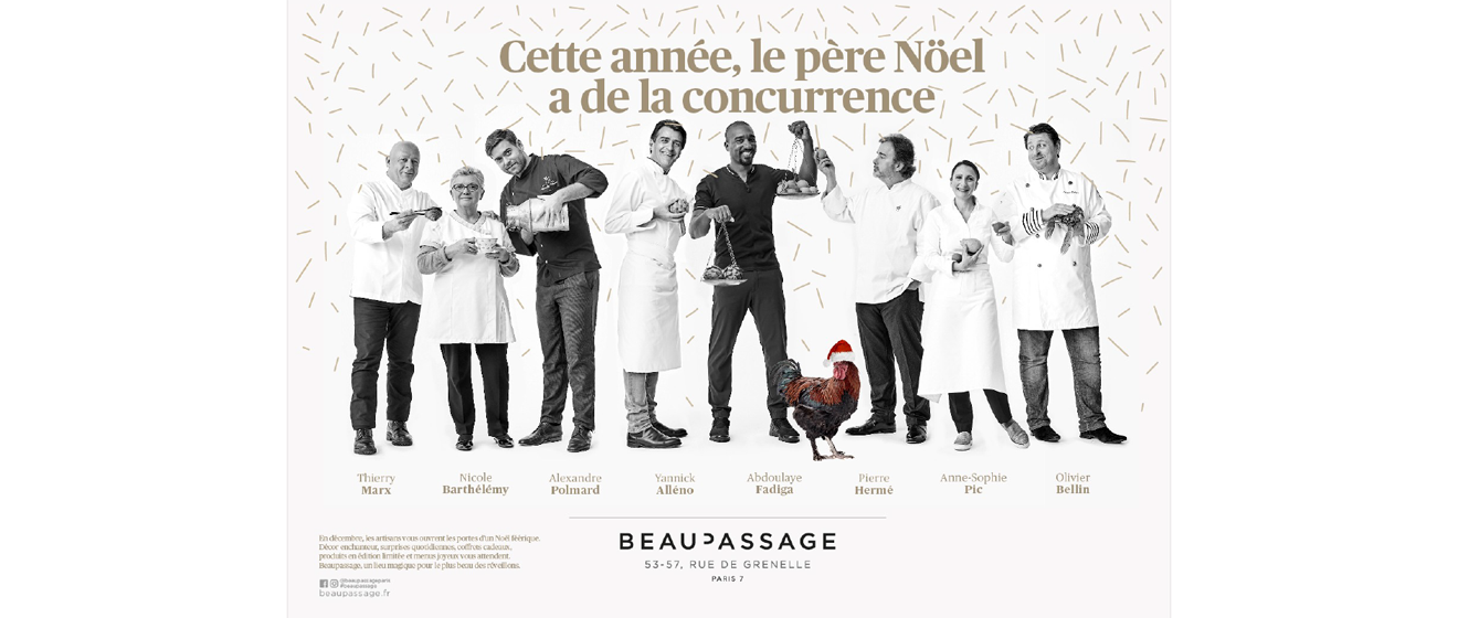 Affiche des premières fêtes de Noël à Beaupassage