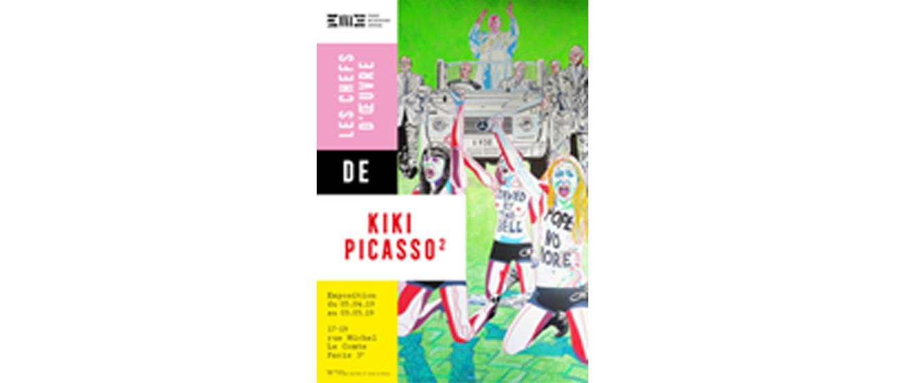 Affiche de l'exposition Kiki Picasso² organisée par le Groupe Emerige