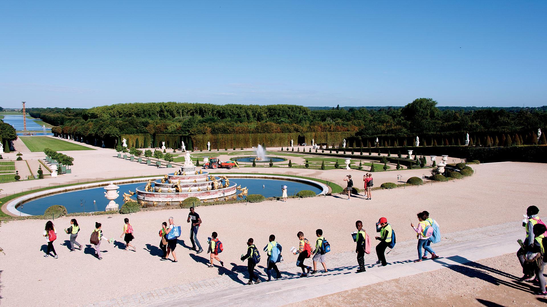Une journée de vacances à Versailles dans les jardins du Château