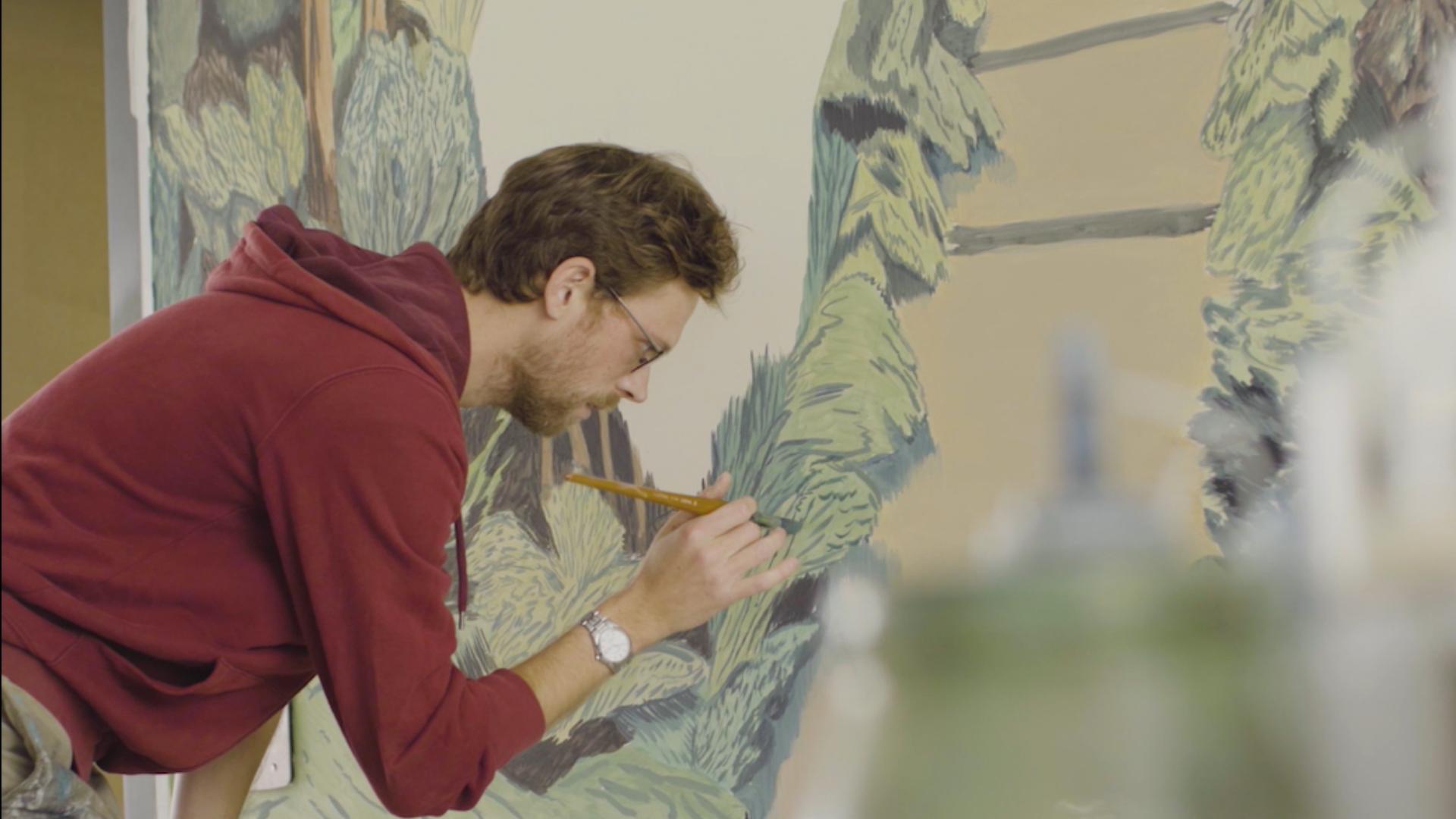 1 immeuble, 1 oeuvre : réalisation d'une fresque à Gentilly par Pierre Seinturier
