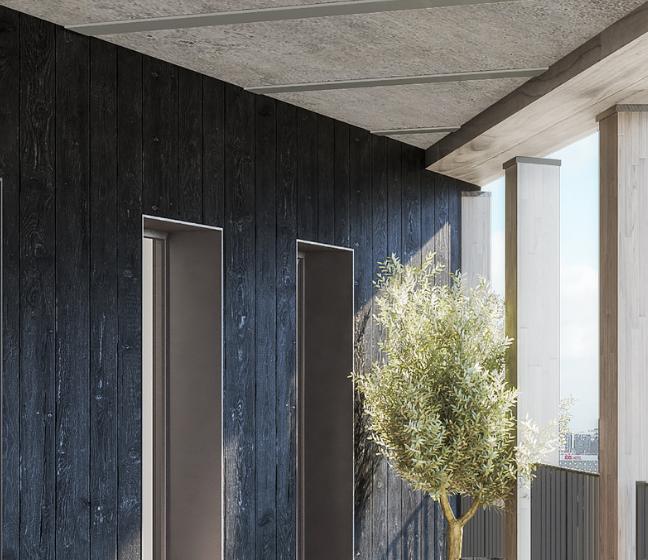 Loggia du programme immobilier neuf Le Berlier à Paris 13
